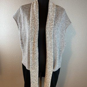 BNCI by Blanc Noir Cardigan Sweater Vest L Black